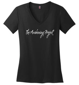 First Logo Ladies V-Neck Tee - The Awakenings Project