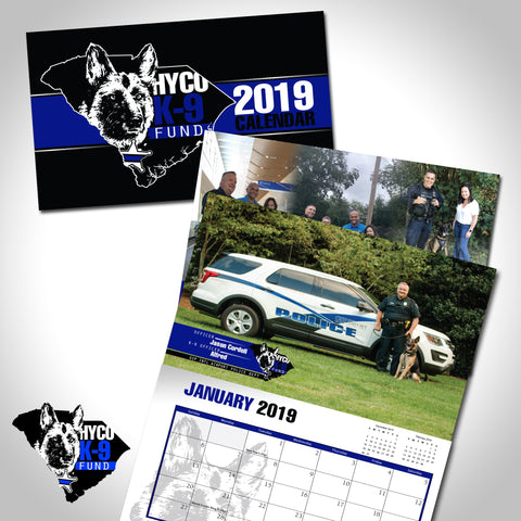SOLD OUT! 2019 K-9 Calendar