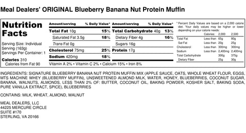 Blueberry Banana Nut Protein Muffin - Meal Dealers