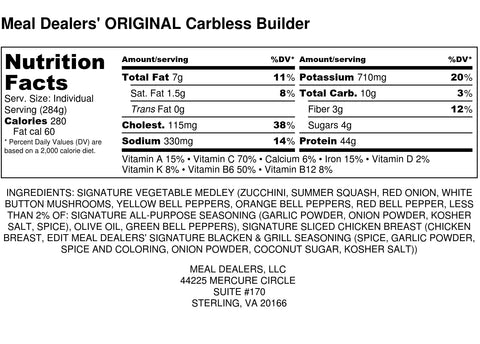 Carb Free Builder - Meal Dealers