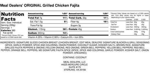 Grilled Chicken Fajita - Meal Dealers