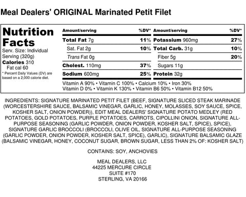 Marinated Petit Filet - Meal Dealers