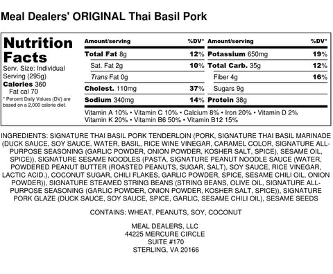 Thai Basil Pork - Meal Dealers