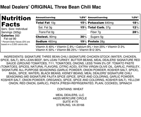 3 Bean Chili Mac - Meal Dealers