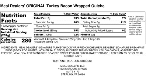 Turkey Bacon Wrapped Egg Quiche - Meal Dealers