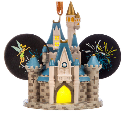 Disney World Cinderella Castle Light-Up Ear Hat Holiday Christmas Ornament - ThemePark Warehouse
