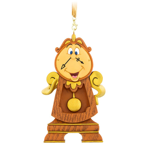 Disney Parks Beauty and the Beast Cogsworth Ornament - ThemePark Warehouse