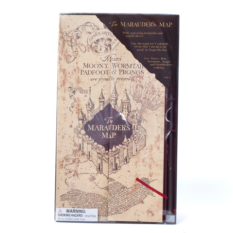 Wizarding World of Harry Potter Electronic Marauders Map with Moving Footprints - ThemePark Warehouse