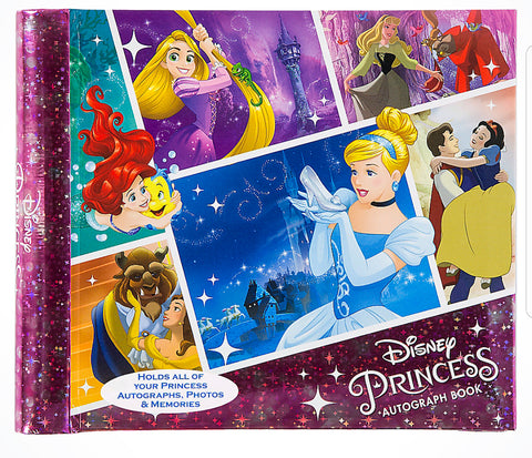 "Disney Parks Deluxe Princess Autograph Book 4"" x 6"" Photo Album - ThemePark Warehouse"