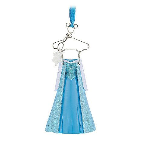 Disney Parks Frozen Princess Elsa Hanging Costume Holiday Christmas Ornament - ThemePark Warehouse