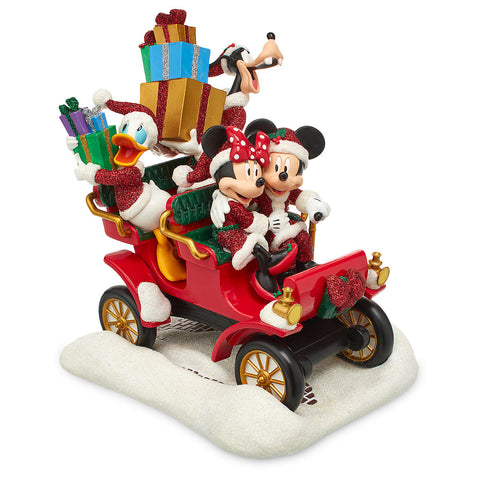 Disney Parks Santa Mickey Mouse and Friends in Car Figure - ThemePark Warehouse