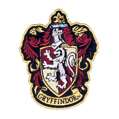 "Harry Potter House of Gryffindor House Hogwarts Crest Robe Patch 4 1/2"" Inch - ThemePark Warehouse"