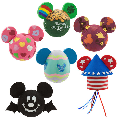 Disney Parks Mickey Mouse Icon Multi Holiday Antenna Topper Set - ThemePark Warehouse