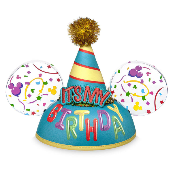 Disney Parks Mickey Mouse It's My Birthday Ears Hat - ThemePark Warehouse