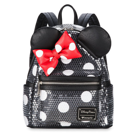 Disney Parks Minnie Mouse Sequined Mini Backpack by Loungefly - ThemePark Warehouse