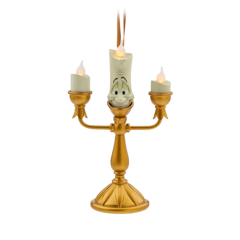 Disney Parks Beauty and The Beast Lumiere Light-Up Holiday Christmas Ornament - ThemePark Warehouse