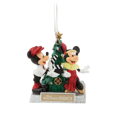 Disney World Hollywood Studios Mickey and Minnie Mouse Holiday Christmas Ornament - ThemePark Warehouse