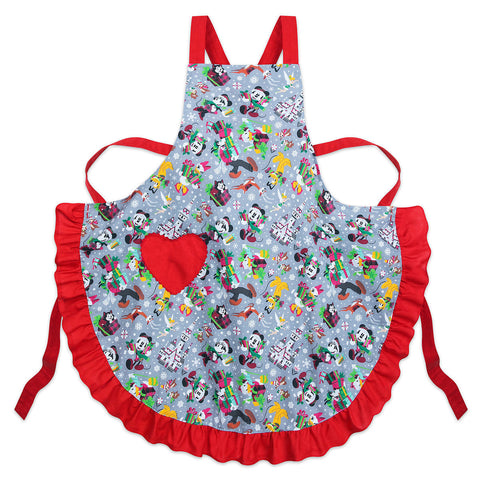 Disney Parks Santa Mickey Mouse and Friends Holiday Apron - ThemePark Warehouse
