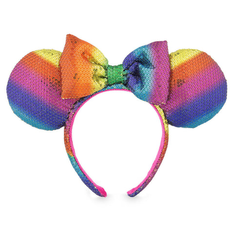 Disney Parks Minnie Mouse Rainbow Ear Headband - ThemePark Warehouse