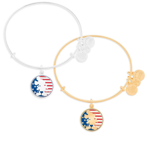 Mickey Mouse Flag Bangle by Alex & Ani - ThemePark Warehouse