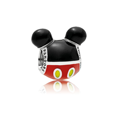"Mickey Mouse ""Playful"" Icon Charm - PANDORA - ThemePark Warehouse"