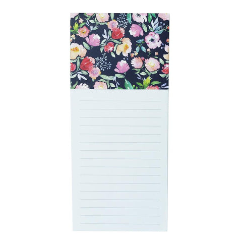 Navy Floral Magnetic Notepad