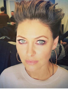 Emma Willis in our Chica Latina Hoops again!