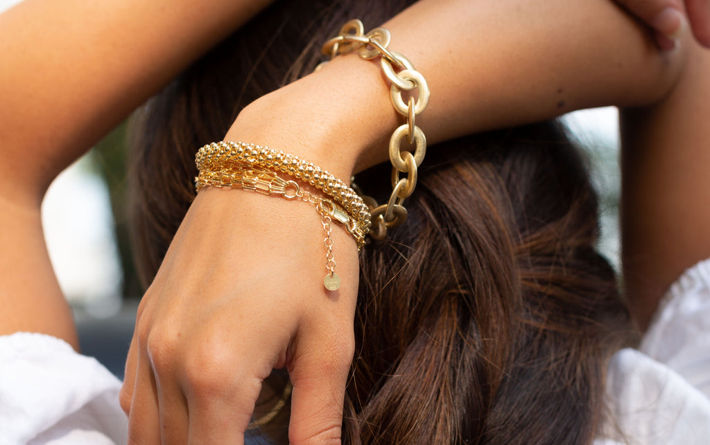 Gold bracelets, georgiana scott