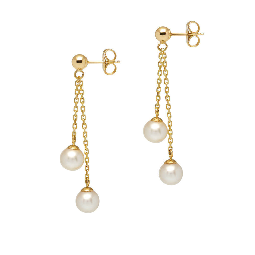 La SILVANA ORO - Pearl & Gold Earrings - Georgiana Scott Jewellery
