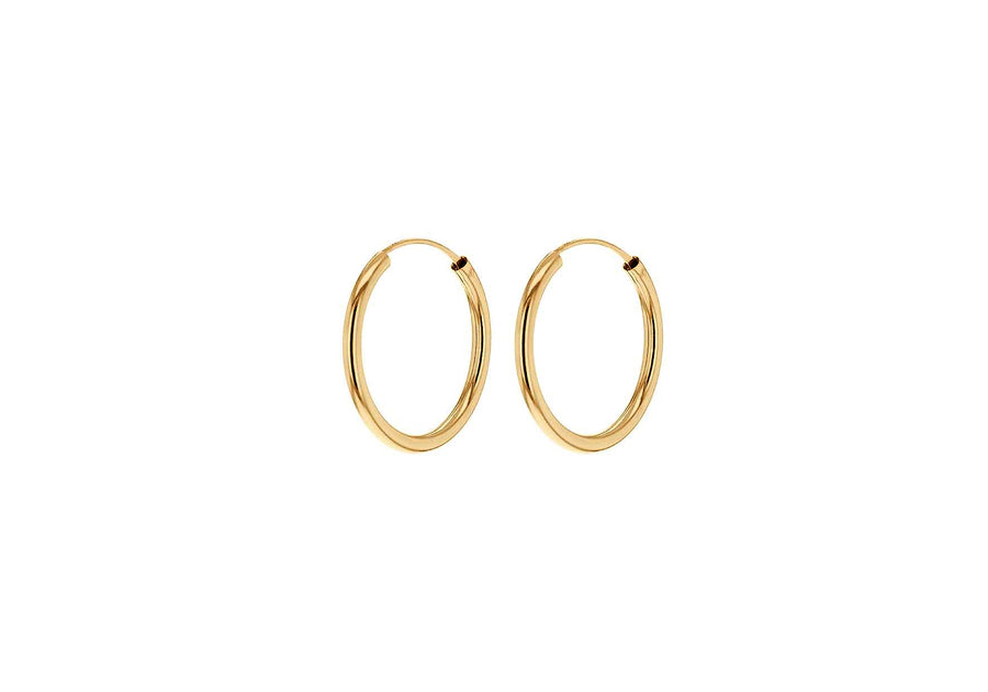 La ORO - Smooth (9 carat gold) Huggies - 2 x sizes - Georgiana Scott Jewellery