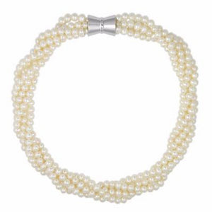 La PALOMA Magnetic Pearl Necklace - white
