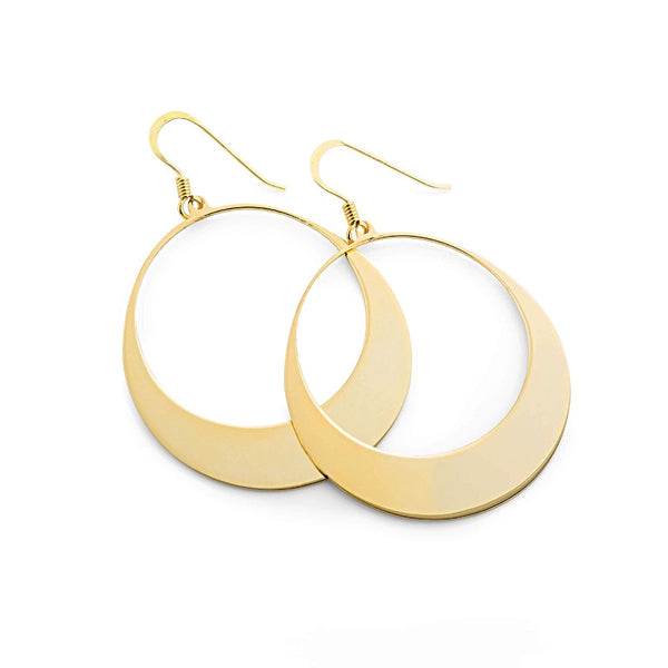 La OPEN CIRCLE Earrings - gold