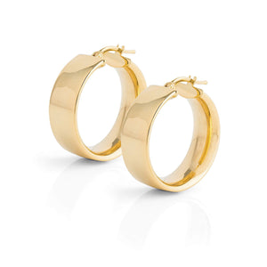 La SHINY CUFF Hoops - Gold