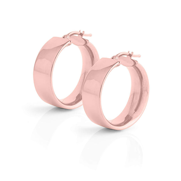La SHINY CUFF Hoops - Rose Gold