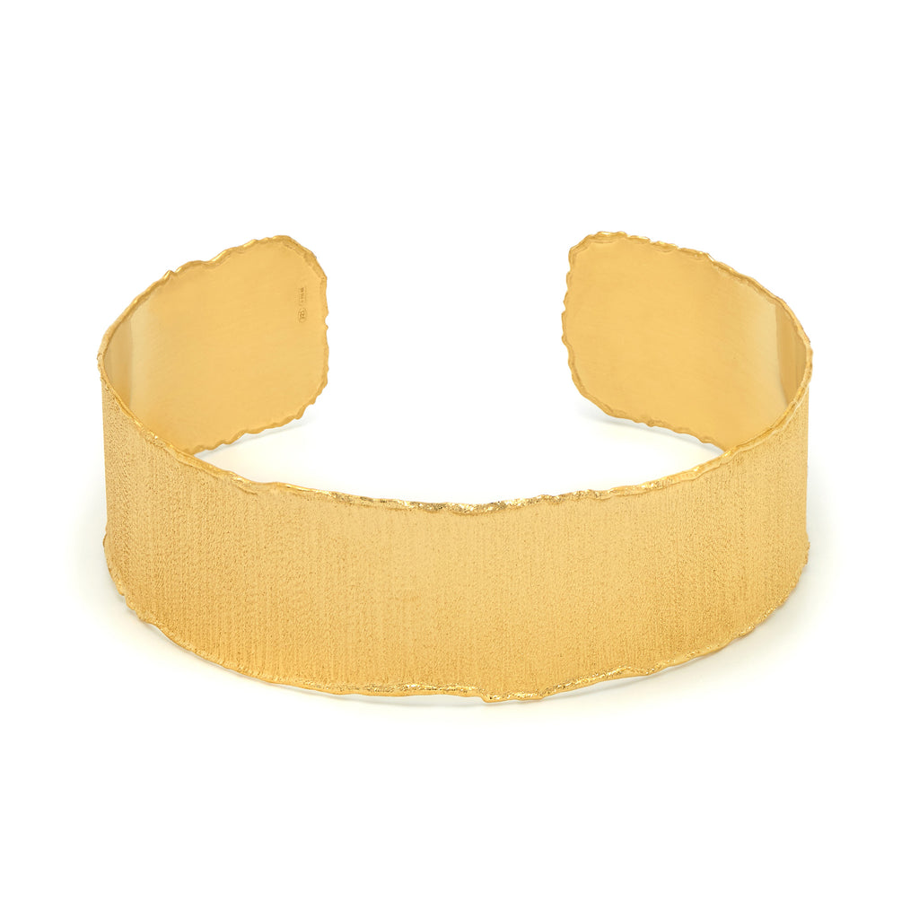 La SATINA Cuff - Gold - SALE - Georgiana Scott Jewellery