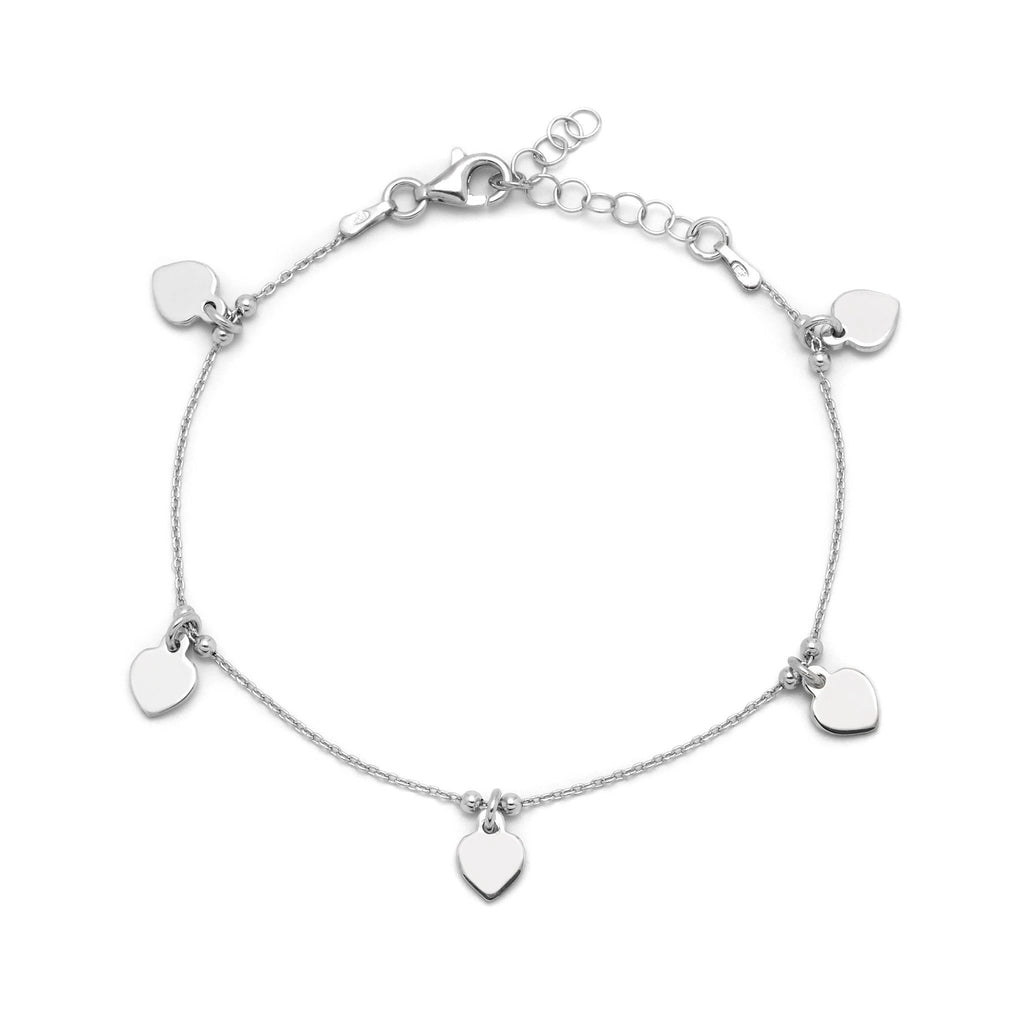 La HEART CHARM Bracelet - Silver - Georgiana Scott Jewellery