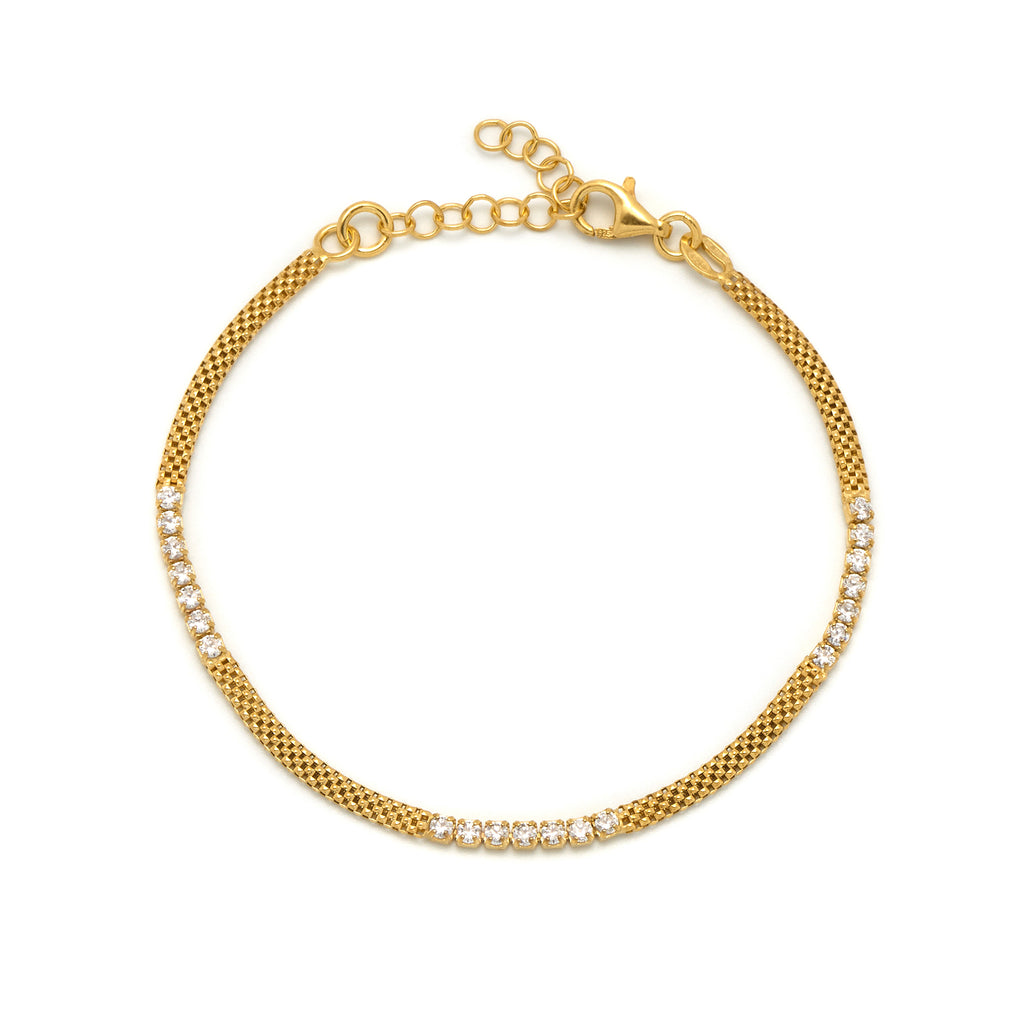 La FIESOLE CZ Bracelet - Gold - Georgiana Scott Jewellery