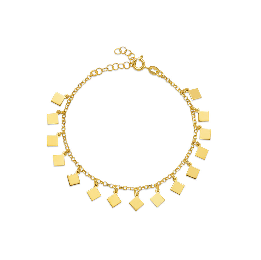 La SQUARE CHARMS Bracelet - Gold - Georgiana Scott Jewellery