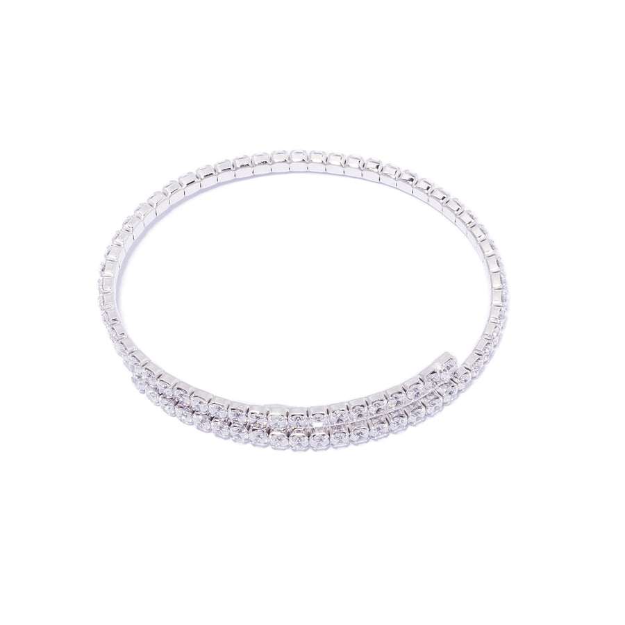 La FLEXI CZ Bangle - Silver