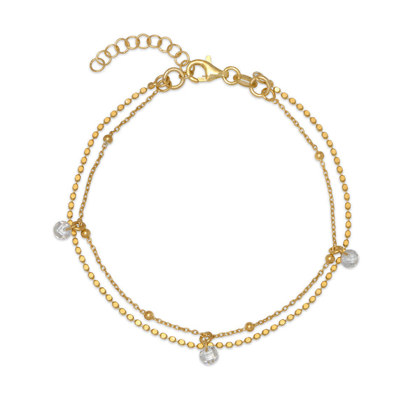 La DISCO MULTI SPARKLE Bracelet - Gold