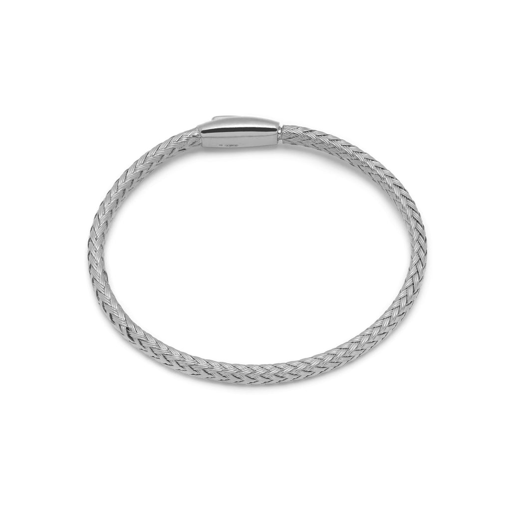 La PLAITED magnet bangle - Silver - Georgiana Scott Jewellery