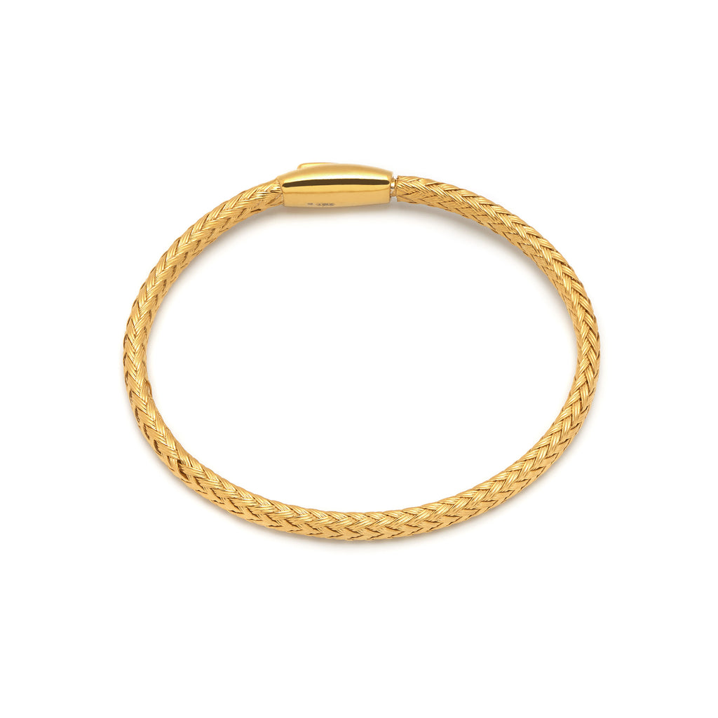 La PLAITED magnet Bangle - Gold - Georgiana Scott Jewellery