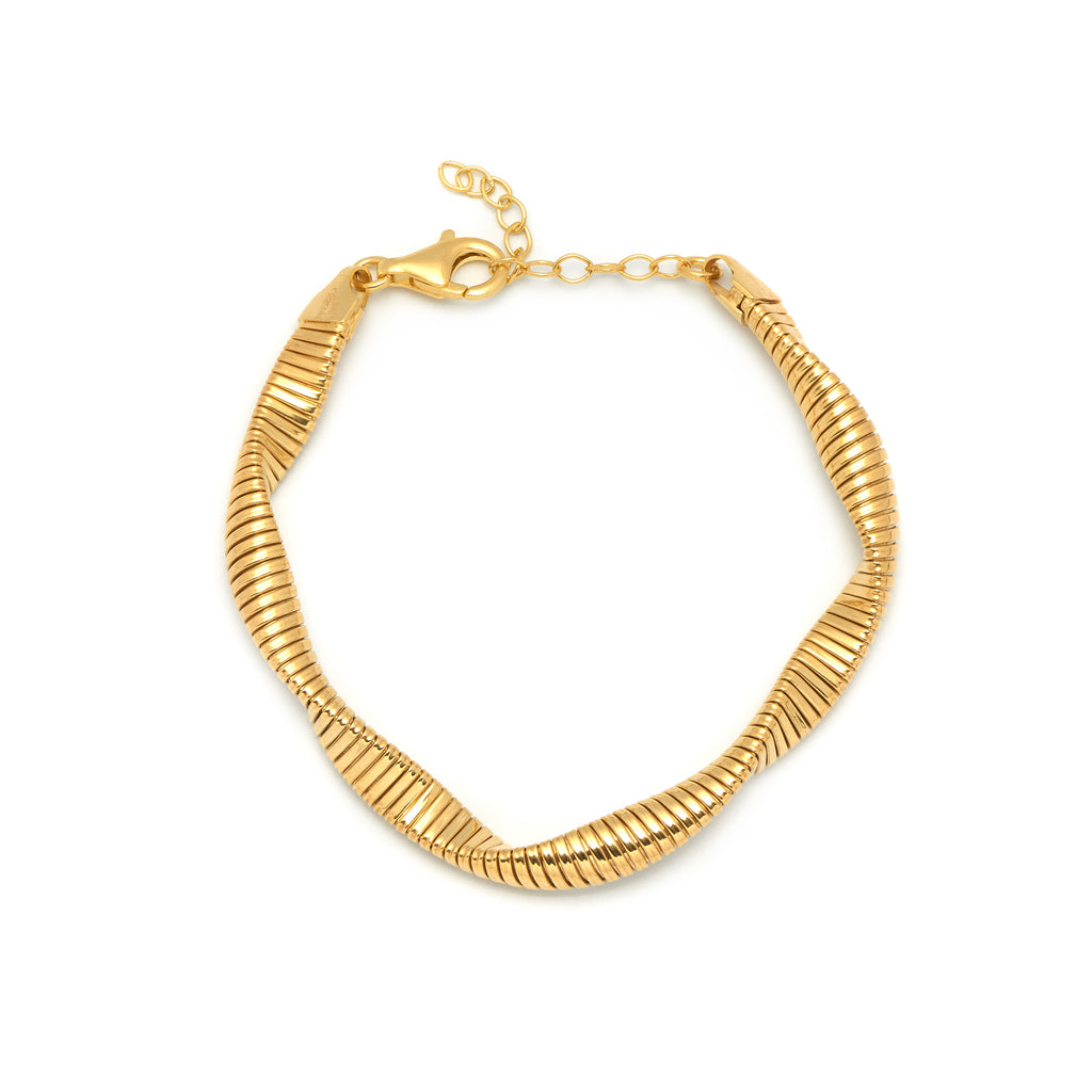 La SWIRL Bracelet - Gold - Georgiana Scott Jewellery