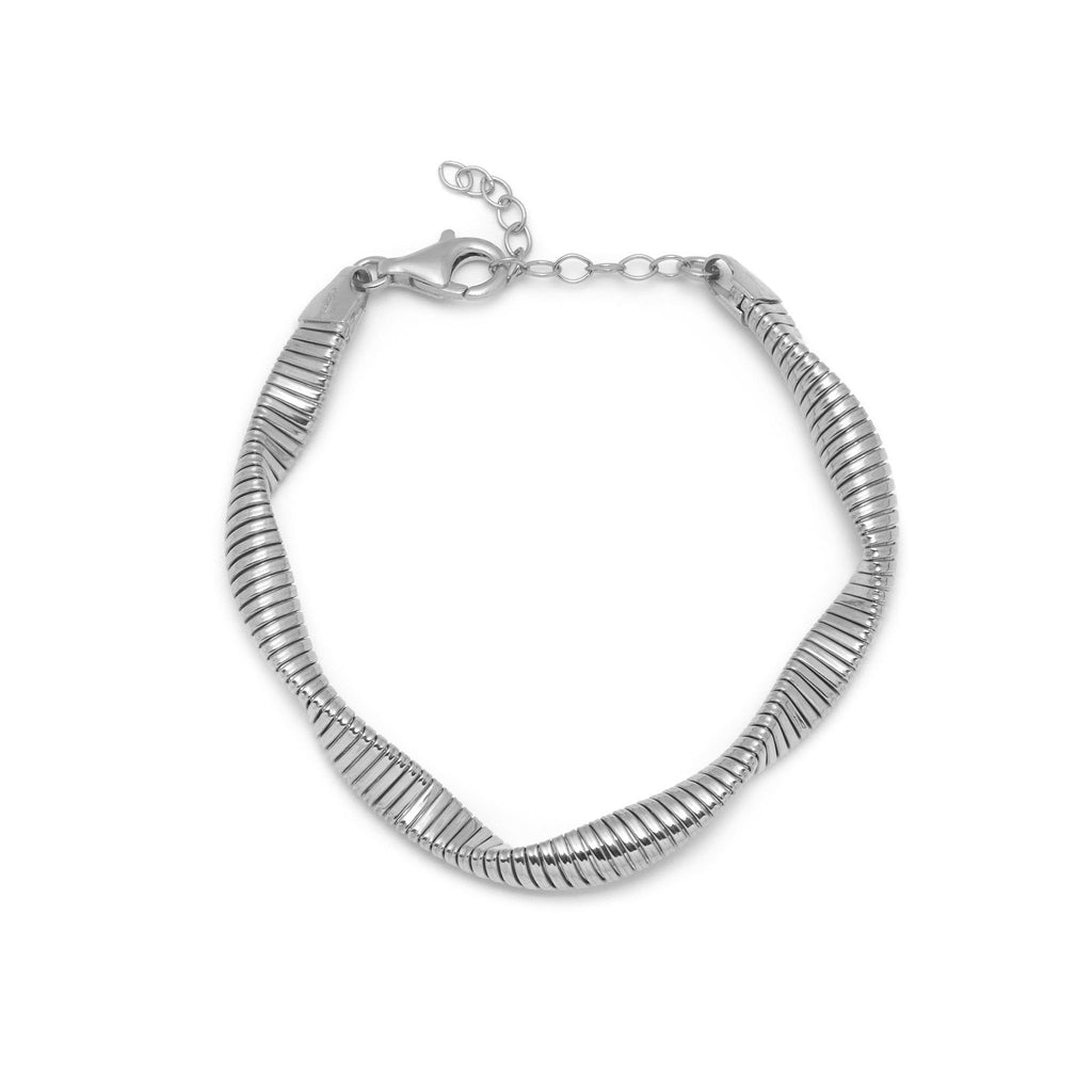 La SWIRL TWIST Bracelet - Silver - Georgiana Scott Jewellery