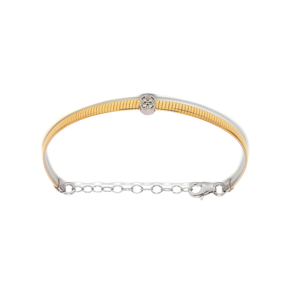 La 2 TONE REVERSIBLE CZ Bracelet - Georgiana Scott Jewellery