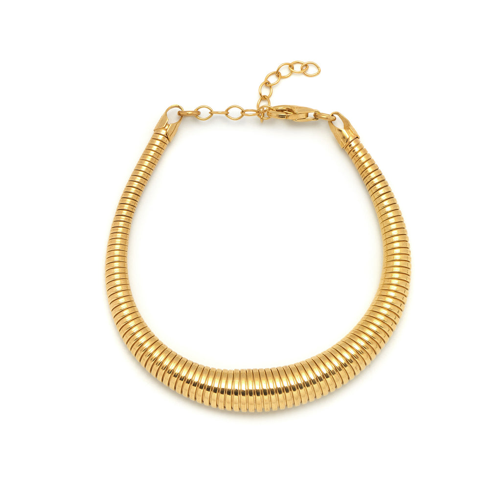 La SLINKY Bracelet - Gold - Georgiana Scott Jewellery
