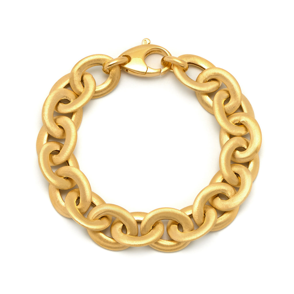 La SATINA LINK Bracelet Gold - Georgiana Scott Jewellery