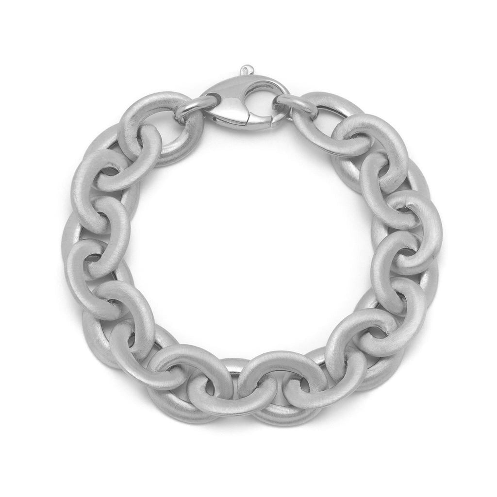 La SATINA LINK Bracelet Silver - Georgiana Scott Jewellery