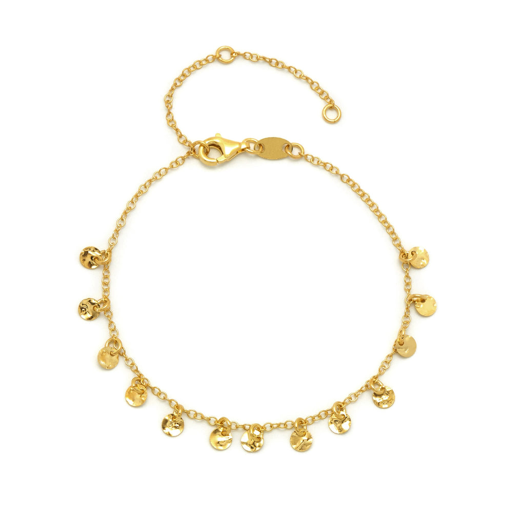 La DISC CHARM Bracelet - Gold - Georgiana Scott Jewellery