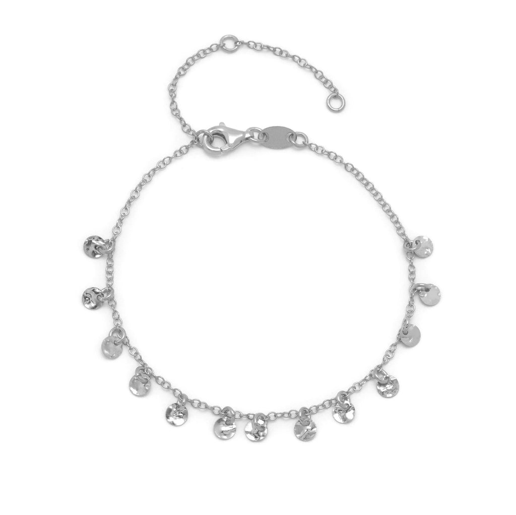 La DISC CHARM Bracelet - Silver - Georgiana Scott Jewellery